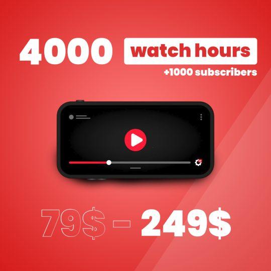 buy 4000 Wacth Hours